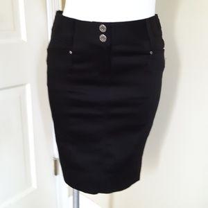 WHBM Black Skirt Sz. 0 NWT!